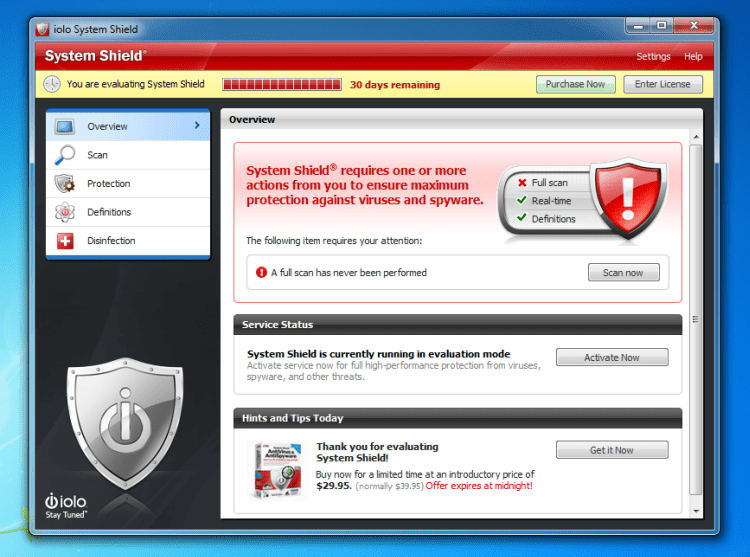 Free Download System Shield AntiVirus and AntiSpyware