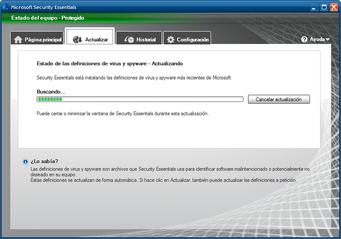 Download Free Microsoft Security Essentials para Windows XP 4.8.204.0