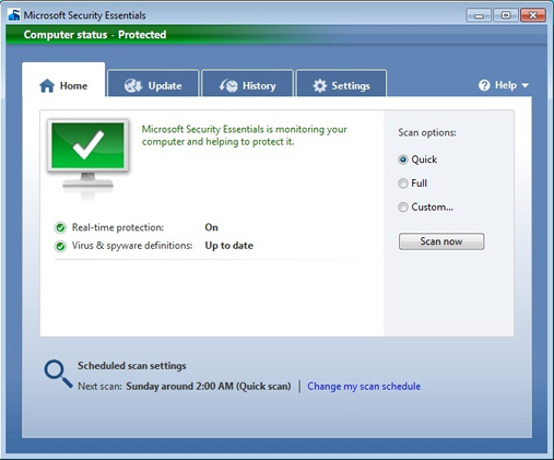 Free Virus Protection with Microsoft Security Essentials